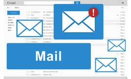 Mail Communication Connection Global Letters Concept.  Royalty Free Stock Photos