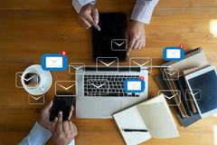 Mail Communication Connection message to mailing contacts phone royalty free stock photography