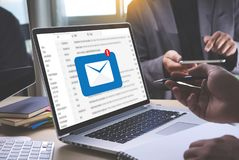 Mail Communication Connection message to mailing contacts phone Royalty Free Stock Image