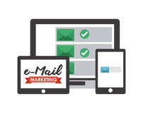 Mail concept. Design, vector illustration eps10 graphic Stock Photography