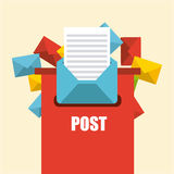 Mail concept. Design, vector illustration eps10 graphic Stock Images