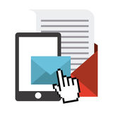 Mail concept. Design, vector illustration eps10 graphic Royalty Free Stock Image