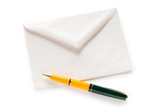 Mail concept with envelope isolated. On the white Stock Photo