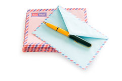 Mail concept with many envelopes Stock Photography