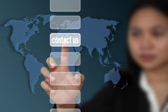 Mail contact us Royalty Free Stock Photos