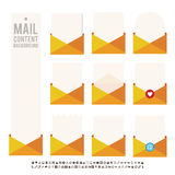 Mail Content Background Stock Image