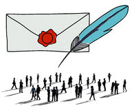 Mail Correspondence Communication Connection Concept Stock Images