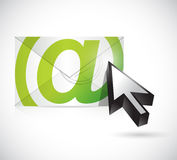 Mail an cursor illustration design Royalty Free Stock Photos