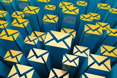 Mail 3d Background Royalty Free Stock Photos