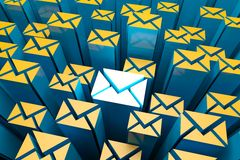 Mail 3d Background Royalty Free Stock Photo