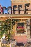 Mail de magasin du village américain de la ville de Chatan en île d'Okinawa où bord de la mer de déformation, mode d'Ouk et bord  photographie stock libre de droits