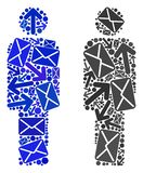 Mail Delivery Collage Person Icons stock illustration