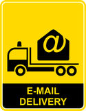 Mail delivery -  icon Royalty Free Stock Photography