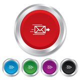 Mail delivery icon. Envelope symbol. Message Royalty Free Stock Images
