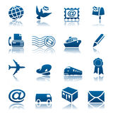 Mail & delivery icon set. Set of mail and delivery icons Royalty Free Stock Photo