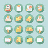 Mail and delivery icon set Royalty Free Stock Image
