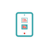 Mail document icon on tablet pc laptop vector illustration. Royalty Free Stock Image
