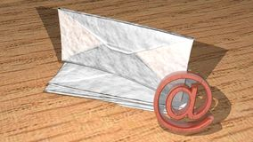 Mail and e-mail Royalty Free Stock Photography