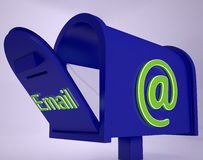 Mail On Email box Shows Received Emails Royalty Free Stock Photos