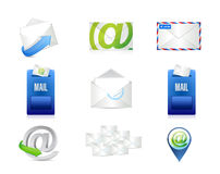 mail, email concept icon set illustration Royalty Free Stock Photos
