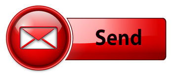 Mail, email icon, button Stock Photography