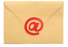Mail with email symbol Stock Image