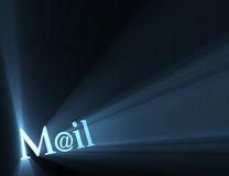 Mail at email symbol light flare Stock Photos