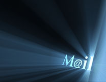 Mail at email symbol light flare Royalty Free Stock Photos