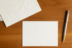 Mail. Empty sheet, envelopes and pen for writing mail Royalty Free Stock Image