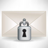 Mail envelop with lock Royalty Free Stock Image