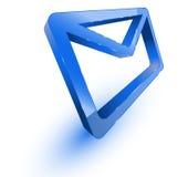 Mail envelope. Blue mail envelope on white background stock illustration
