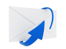 Mail envelope and arrow Stock Photo