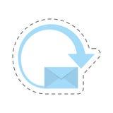 Mail envelope courier international. Illustration eps 10 Royalty Free Stock Photo
