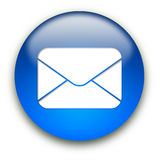 Mail envelope icon button Royalty Free Stock Photos