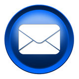 Mail envelope icon button Stock Photos