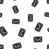 Mail envelope icon seamless pattern background. Business flat ve. Ctor illustration. Email sign symbol pattern Royalty Free Stock Images