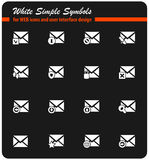 Mail and envelope icon set. Mail and envelope  icons for user interface design Stock Images