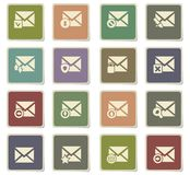Mail and envelope icon set. Mail and envelope  icons for user interface design Royalty Free Stock Images