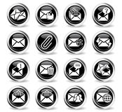 Mail and envelope icon set. Mail and envelope web icons for user interface design Royalty Free Stock Images