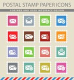 Mail and envelope icon set. Mail and envelope web icons for user interface design Royalty Free Stock Photography