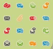 Mail and envelope icon set Stock Photos