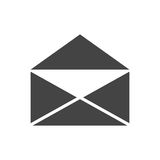 Mail envelope icon vector isolated on white background. Stock Photos