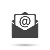 Mail envelope icon vector  on white background. Royalty Free Stock Images