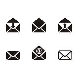 Mail envelope icons Royalty Free Stock Photo