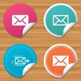 Mail envelope icons. Message symbols. Stock Photos