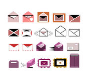 Mail/envelope/letter icons Royalty Free Stock Image