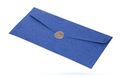 Mail envelope or letter sealed with wax seal stamp Royalty Free Stock Photography