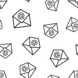 Mail envelope seamless pattern background. Business concept vect. Or illustration. Email symbol pattern Royalty Free Stock Image