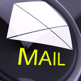Mail Envelope Shows Sending And Receiving Message Or Goods Stock Photos