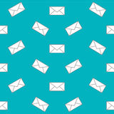 Mail envelope web icon. Seamless pattern. Vector background Stock Photos